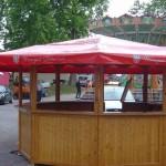 Dach für Verkaufsstand