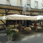 Sonnenschirmbespannung für Restaurant